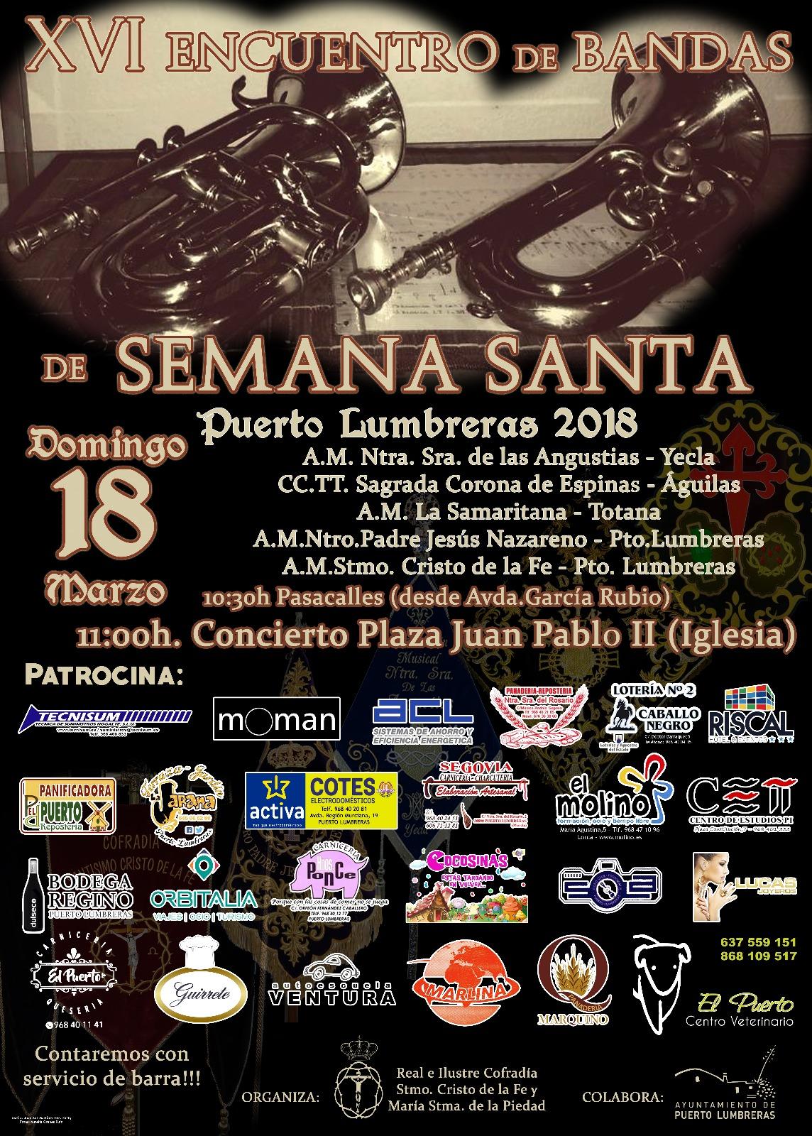 XVI ENCUENTRO DE BANDAS DE SEMANA SANTA 2018