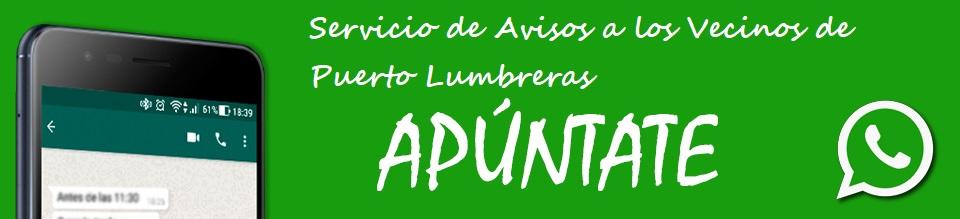 Whatsapp Ayuntamiento de Puerto Lumbreras